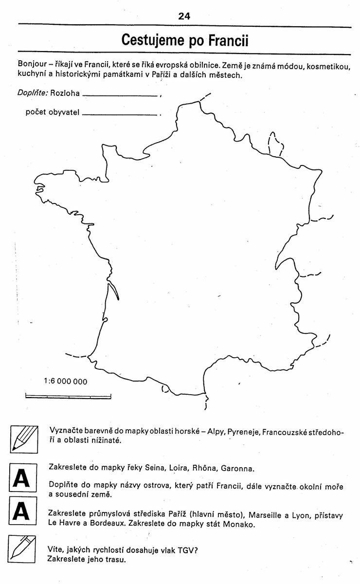 Vektorova Grafika Administrativni Slepa Mapa 13 Regionu Francie Od