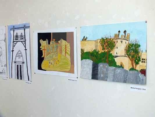 "Výstava výtvarných prací ""Památky Očima mladých""."